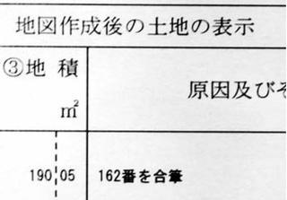 徳島法務局測定の土地面積 「課税明細」と食い違い