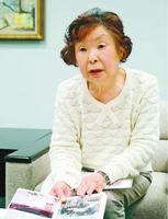 「言葉で表現し、被災地とつながることが大切」と話す竹内紘子さん=徳島新聞社