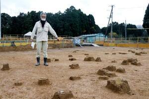 後期旧石器時代前半の石器が出土した稚児野遺跡=26日午後、京都府福知山市