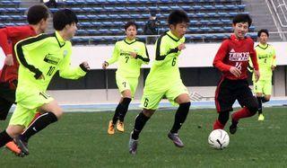 徳島北、初戦突破ならず サッカー全国高校選手権