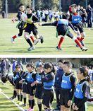 今春統合の川田中小タグラグビーチーム 奮闘及ばず予…