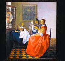 「ワイングラスを持つ娘」の陶板画=鳴門市の大塚国際美術館