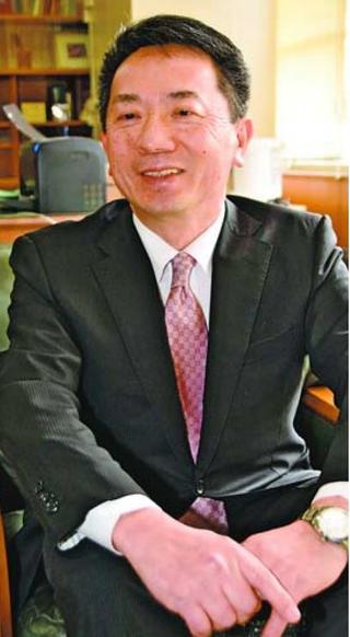 徳島県高校長協会長に就いた 森本俊明さん