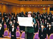 3会場で新入生宣誓 徳島文理大 新型コロナ拡大 人数制限し「入学許可式」