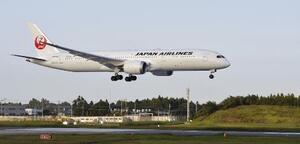 日本航空の機体=10月、成田空港