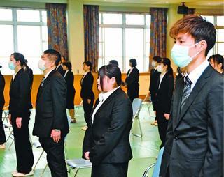 コロナ厳戒 前向く春 徳島県内企業で入社式
