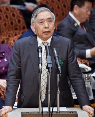 日銀の黒田総裁、新型肺炎を警戒