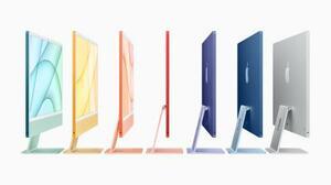 アップルが発売するアイマックの新製品(同社提供・共同)