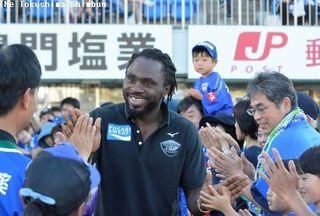 徳島ヴォルティス、新加入のFWウタカがファンにあいさつ