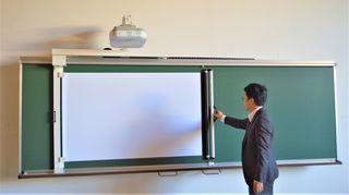 電子黒板に力 北島製作所(徳島市大原町千代ケ丸)