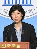 12日、韓国人元徴用工と元従軍慰安婦の補償問題を解決するための法案をソウルの国会に提出した無所属議員、梁貞淑氏(共同)