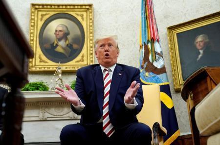 トランプ米大統領=20日、ワシントン(ロイター=共同)