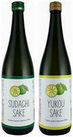 榮川酒造が発売する[右]YUKOUSAKEと[左]SUDACHISAKE