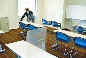 会議室に設けた自習スペース=徳島市のはこらいふ図書館