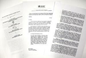 国連の特別報告者4人が2月19日付で日本政府に送付した「学生支援緊急給付金」の運用是正を求める書簡の写し