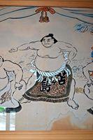 松茂町指定有形文化財「土俵入り絵図」に描かれた苫ケ島