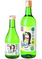 本家松浦酒造場が発売した「すだち酒 アマビエちゃんラベル」