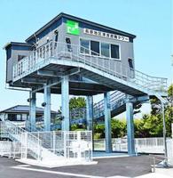 松茂町が整備した津波避難タワー=同町長原