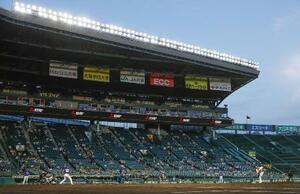 プロ野球の阪神―中日戦が行われた甲子園球場=5月13日