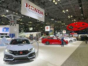 2019年4月に開催されたニューヨーク国際自動車ショー=米ニューヨーク(共同)