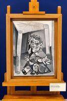 20日、パリの国立ピカソ美術館で公開されたピカソの絵画(ロイター=共同)