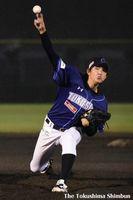 6回1失点で優勝に貢献した徳島の松本=JAバンク徳島スタジアム