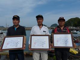 県釣連盟クラブ対抗チヌ釣り大会2回目の上位者