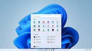 米マイクロソフトが発表した「ウィンドウズ11」の画面(同社提供・共同)