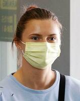 東京五輪陸上女子ベラルーシ代表のクリスツィナ・ツィマノウスカヤ選手=4日午前、成田空港