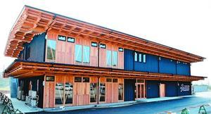 徳島ヴォルティスが新たに建設したクラブハウス=板野町の徳島スポーツビレッジ