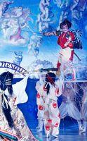 システィーナ歌舞伎「GOEMON」で観客を魅了する片岡愛之助さん(上)=大塚国際美術館
