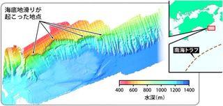 地震発生せず津波の可能性 徳島・海陽沖に海底地滑り跡 徳島大大学院調査