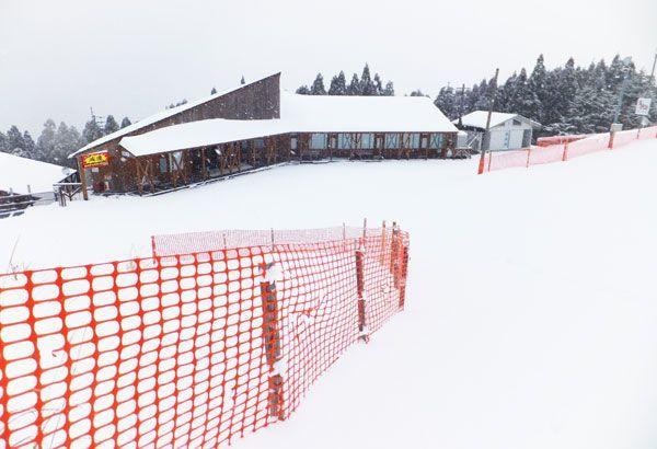 無料開放される剣山スキー場=つるぎ町一宇