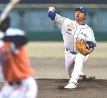4安打2失点で完投した徳島の福永=JAバンク徳島スタジアム