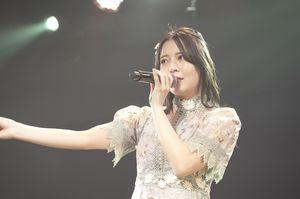 「ありがとう!STU48号ツアー」の「僕たちの恋の予感」5月15日徳島公演出演時の谷口茉妃菜さん(ⓒSTU)