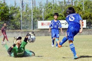 県サッカー少年団大会 第1日