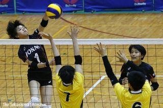 城南、決勝T初戦で競り負け 全国高校総体バレーボール女子(複数写真)