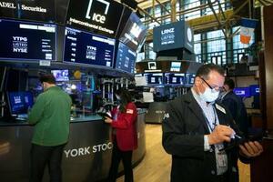 14日のニューヨーク証券取引所(同取引所提供・AP=共同)