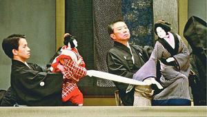 国立文楽劇場で33年ぶりに上演される「傾城阿波の鳴門」=1988年3月、大阪市内(同劇場提供)