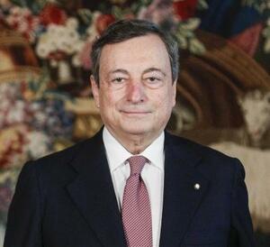 イタリアのドラギ首相(AP=共同)
