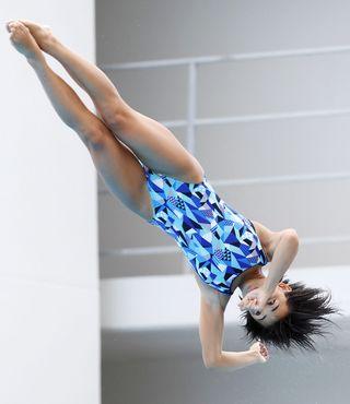 森岡(生光学園)2位 全国高校総体女子板飛び込み
