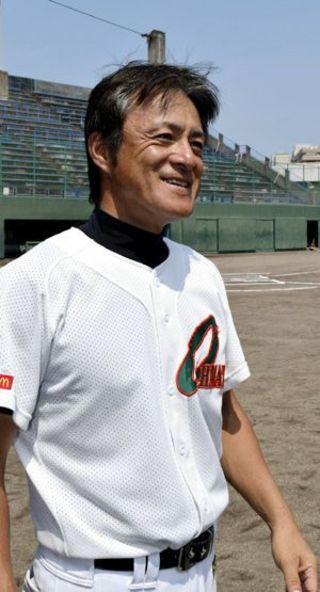 こども野球のつどいで初優勝した大松少年野球部の監督・三木恒(みき・ひさし)さん