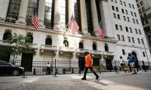 ニューヨークのウォール街=14日(AP=共同)