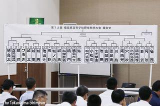 徳島県高校野球秋季大会 組み合わせ決まる